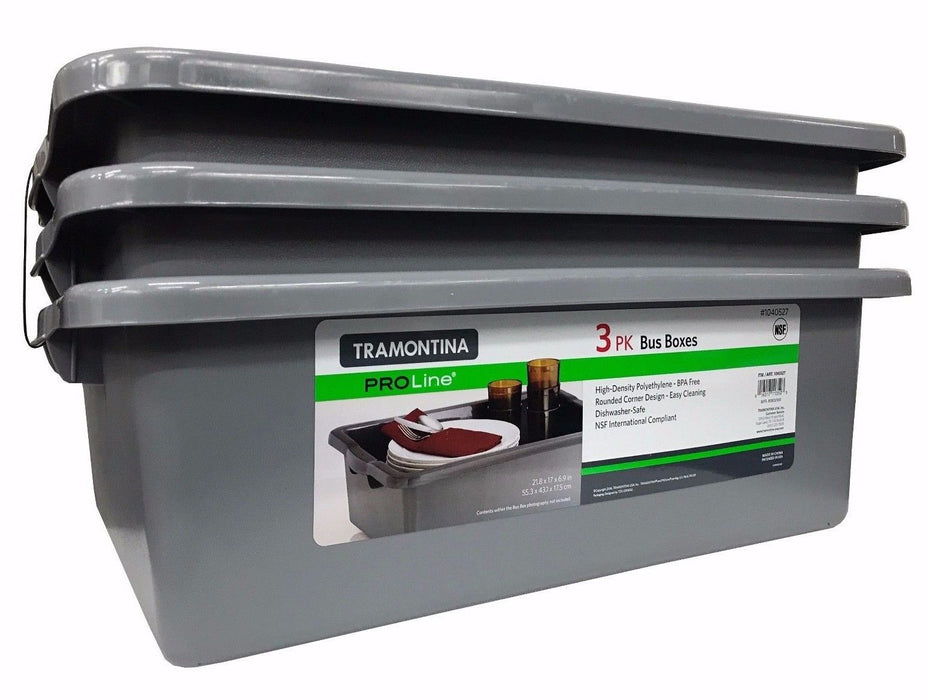 Tramontina Proline 3 Pk Bus Boxes 21.8 x 17 x 6.9 in