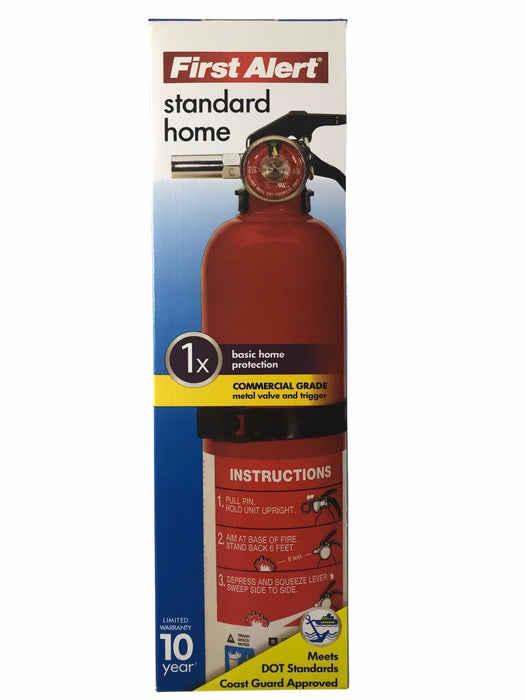 First Alert Standard Home Fire Extinguisher with Commercial Grade Valve/Trigger