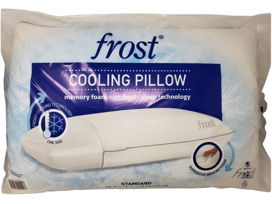 Frost Cooling Pillow Memory Foam with Frost Sleep Technology 24 x 16 in