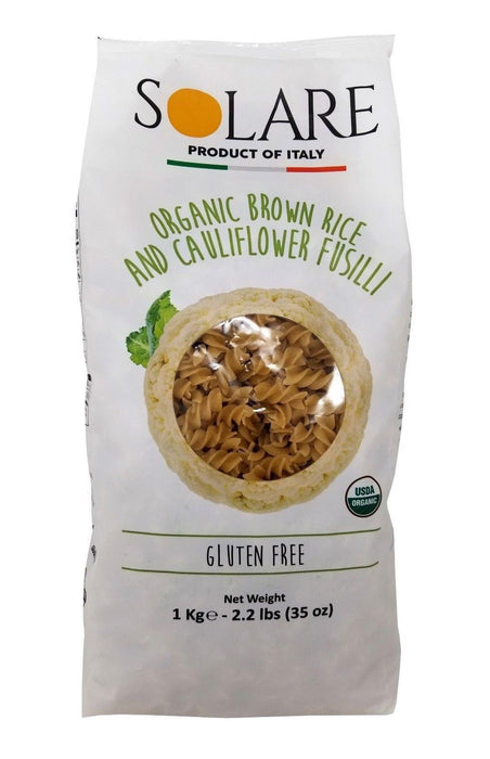 Solare Organic Brown Rice & Cauliflower Fusilli from Italy 2.2 LB