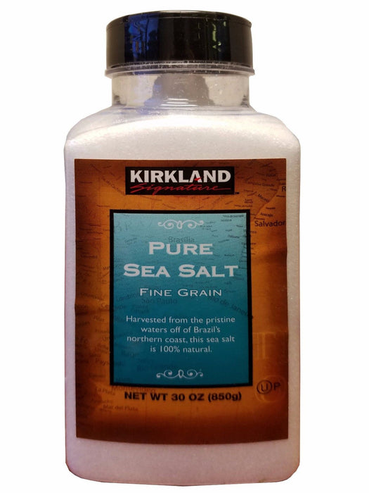 Kirkland Signature Pure Sea Salt Fine Grain 100% Natural 30 oz