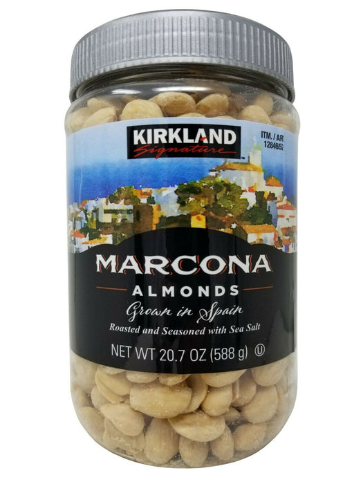 Kirkland Signature Marcona Roasted Almonds with Sea Salt from Spain 20.7 OZ