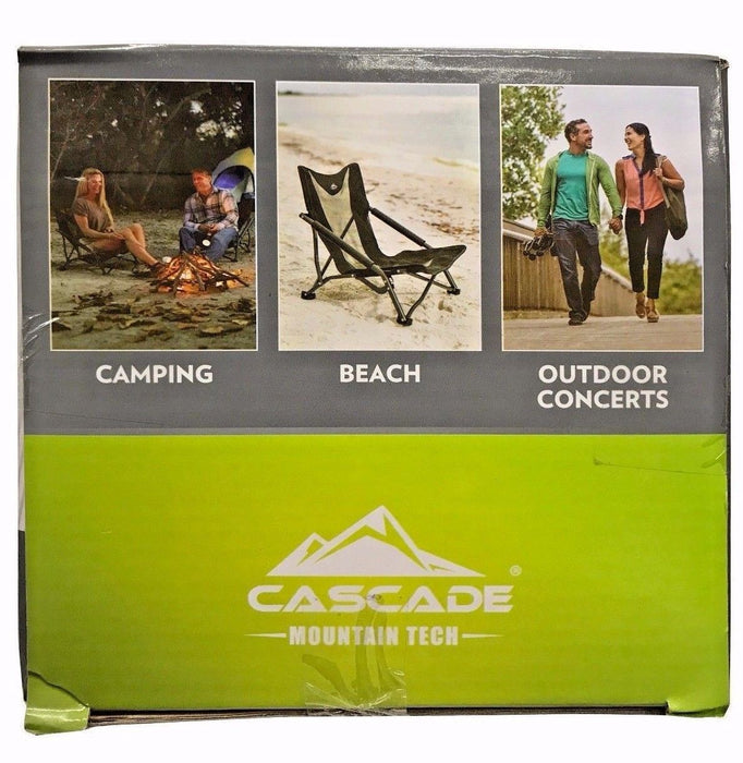 Cascade Mountain Tech Compact Outdoor Chair - Comfortable & Compact