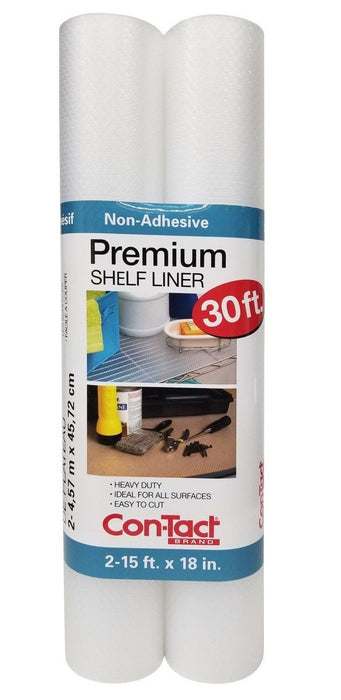 Con-Tact Premium Shelf Liner 15ft x 18in Heavy Duty, Non-Adhesive 2 Pack