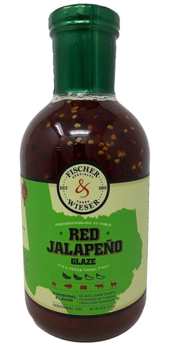 Fischer & Wieser Red Jalapeno Glaze from Texas 40 OZ
