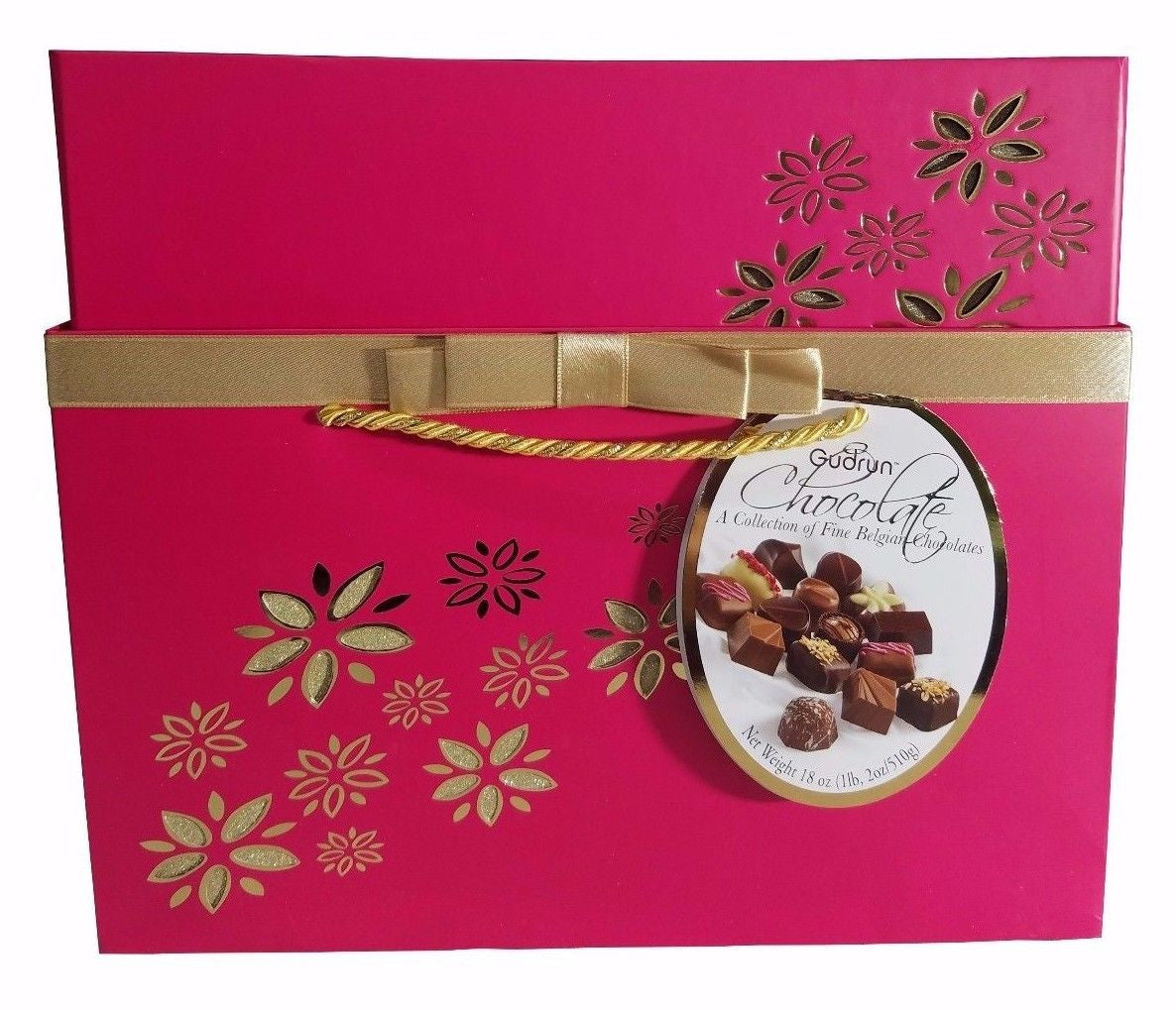 Gudrun Belgian Chocolate Fine Assorted Chocolates 18oz - Red Gift Box