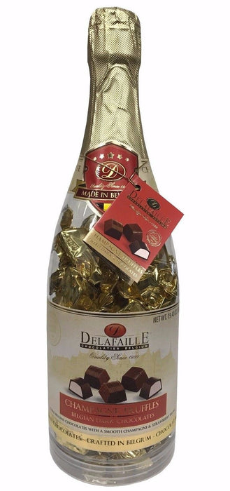 Delafaille Champagne Truffles Belgian Dark Chocolates with Strawberry 19.4 OZ