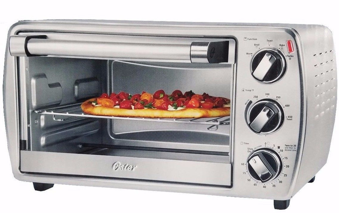 Oster Convection Countertop Oven with Turbo Heat Technology & Ceramic Baking Pan