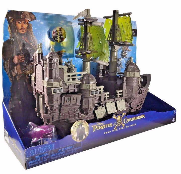 Disney Pirates of the Caribbean Silent Mary Ghost Ship Play Set & Jack Sparrow
