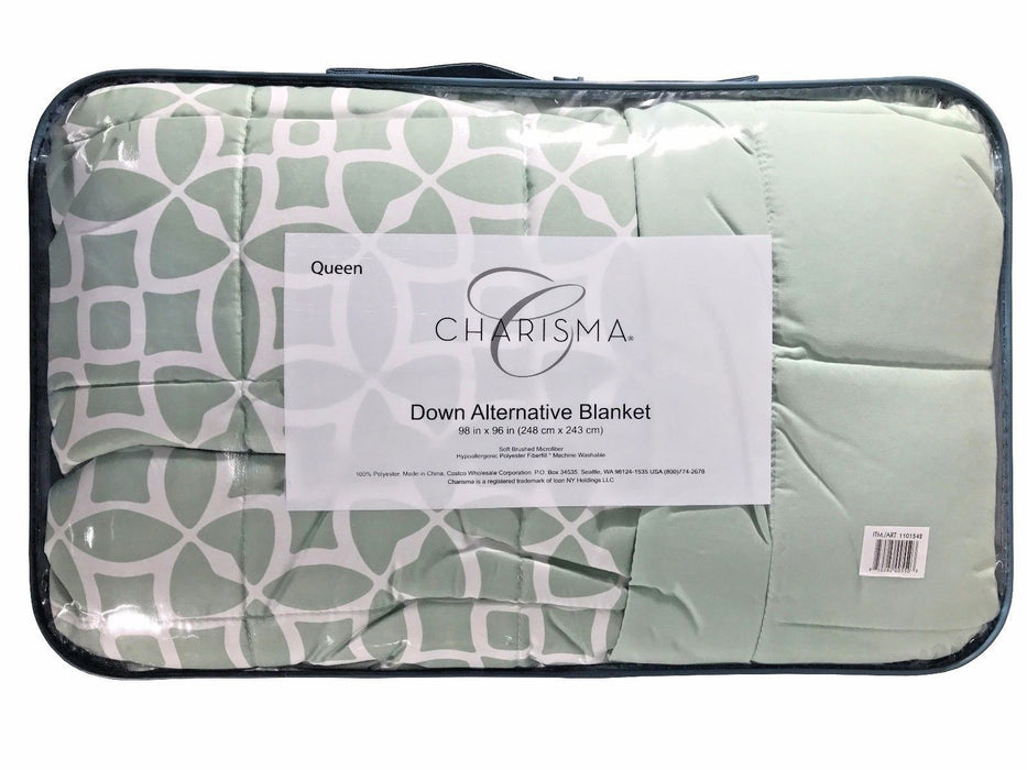 Charisma Down Alternative Blanket Queen Size 100% Polyester - Light Green