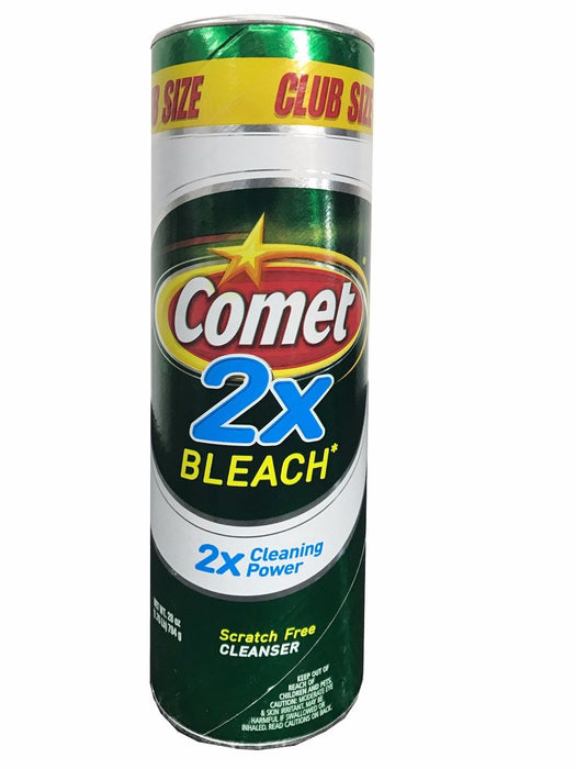 Comet 2x Bleach Scratch Free Cleanser 2x Cleaning Power Club Size 28oz Can