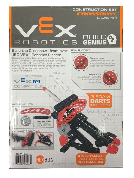 Vex Robotics Construction Set 3 in 1 pack Crossbow Launcher (Alternate 2 Builds)