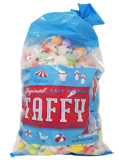 Sweet's Original Salt Water Taffy Delicious Ten-Flavor Assortment 4.5 LB