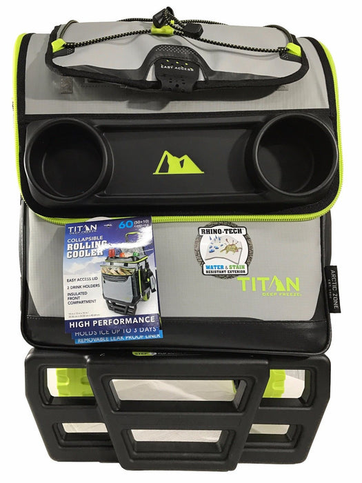 Titan PortableHigh Performance Rolling Cooler Collapsible Cart - 60 Cans