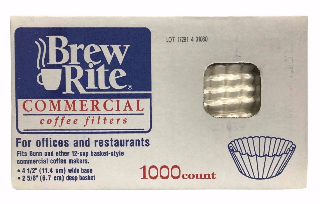 Brew Rite Commercial Coffee Filters for Office & Restaurants 1000 ct