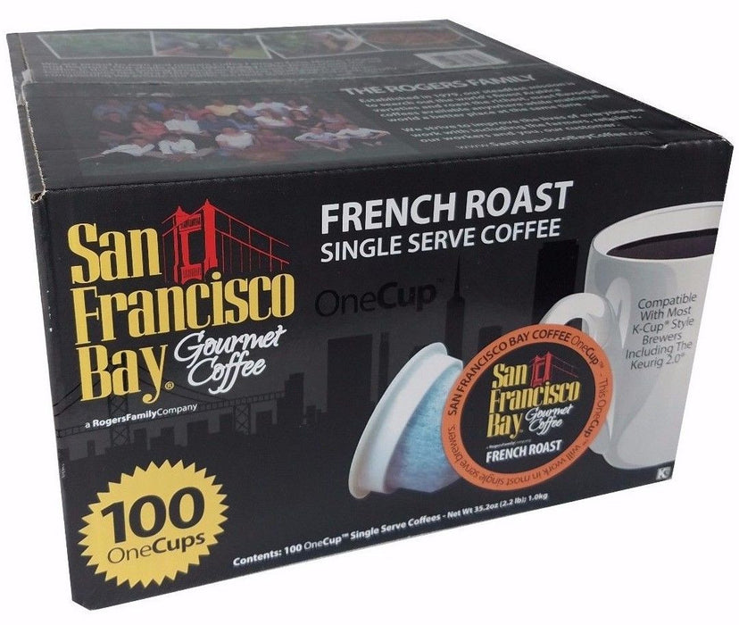 San Francisco Bay Gourmet Coffee French Roast Single Serve Coffee 100 One Cups