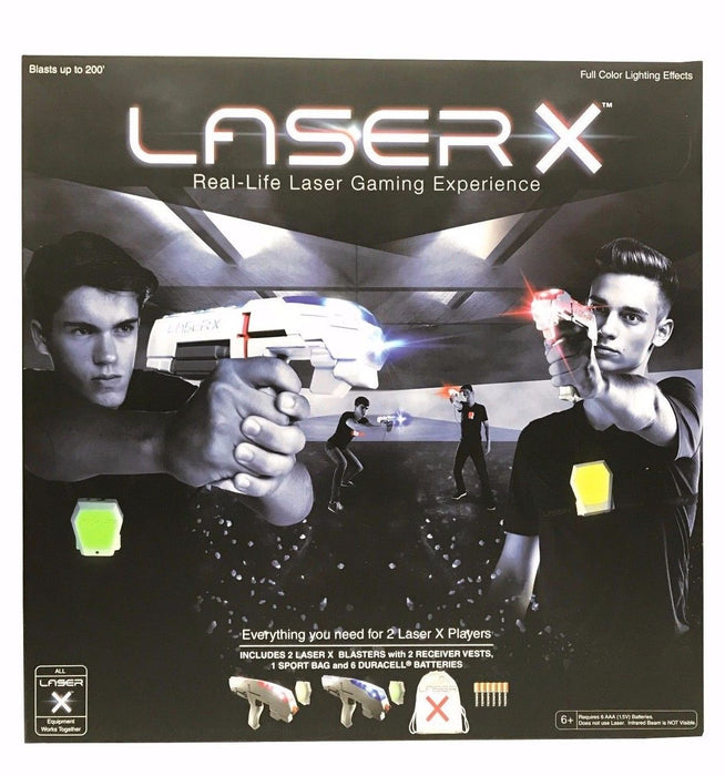 Laser X Real-Life Laser Gaming Experience with 2 Blasters & Receiver Vests
