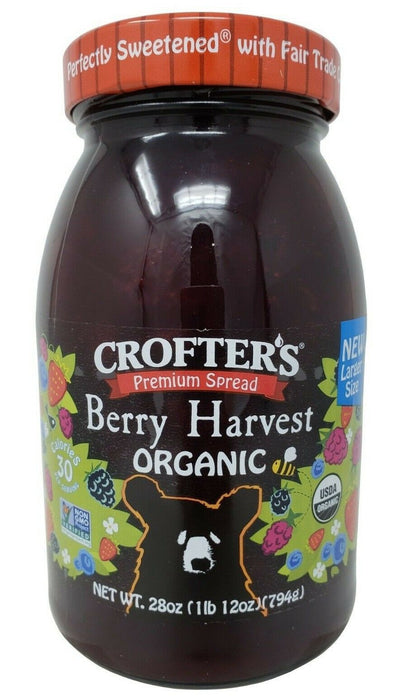 Crofter's Organic Premium Berry Harvest Spread Larger Size 28 OZ
