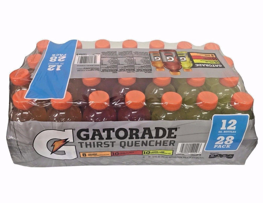 Gatorade Thirst Quencher Lemon-Lime/Fruit Punch/Orange 12 OZ Bottles 28 Pack