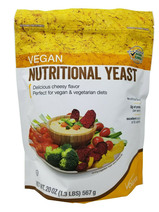 Volupta Vegan Nutritional Yeast Delicious Cheesy Flavor 20 OZ