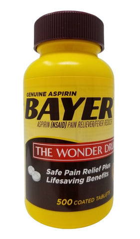 Bayer Genuine Aspirin Pain Reliever/Fever Reducer 325mg 500 Tablets