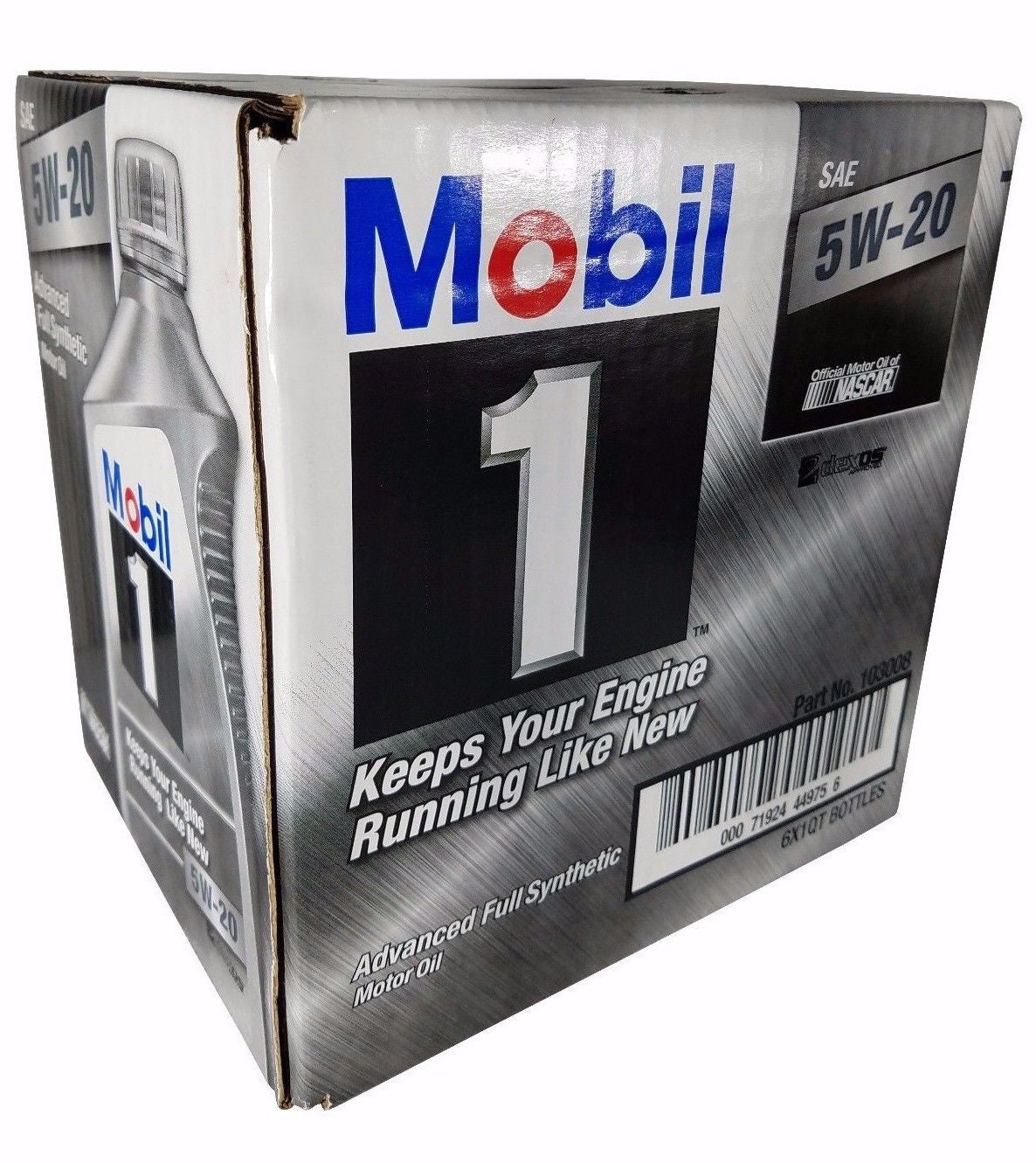 Mobil 1 5W-20 Advanced Full Synthetic Motor Oil 1QT bottles 6 Pack