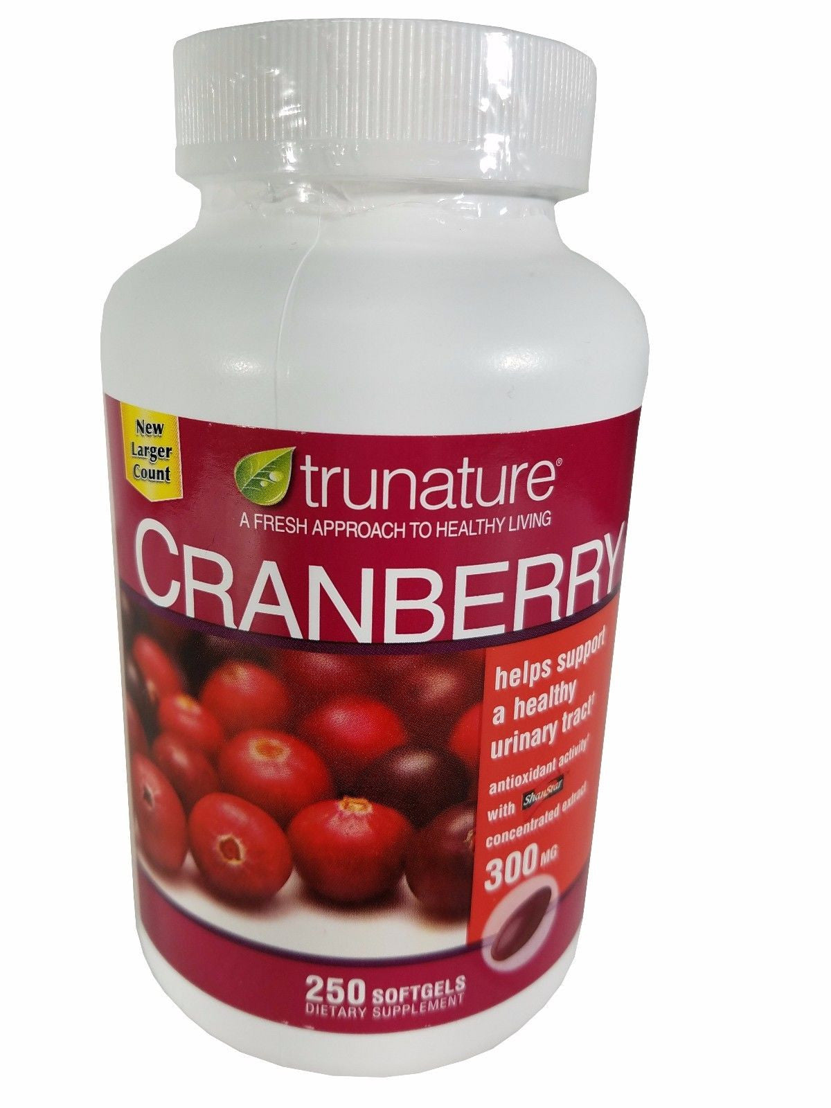 Trunature Cranberry Supports a Healthy Urinary Tract 300 mg 250 Softgels