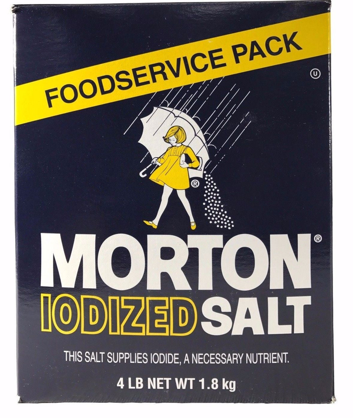 Morton Iodized Salt Foodservice Pack 4 LB