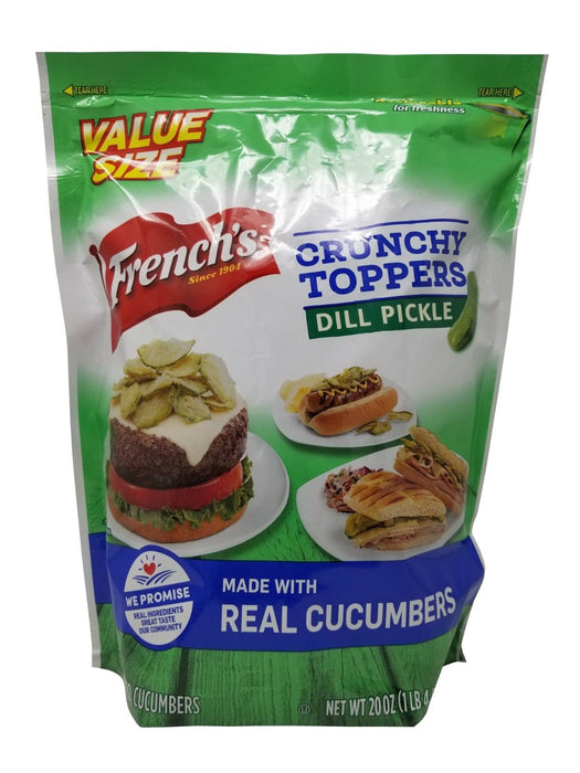 French's Crunchy Toppers Dill Pickle made with Real Cucumbers 1 LB 4 OZ