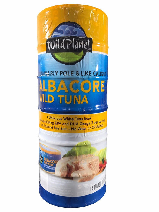 Wild Planet Albacore Wild Tuna Steak Pole & Line Caught 5 OZ Each 6 Cans