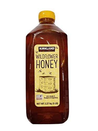 Kirkland Signature Premium Wildflower Honey 5 Lbs 100% Pure