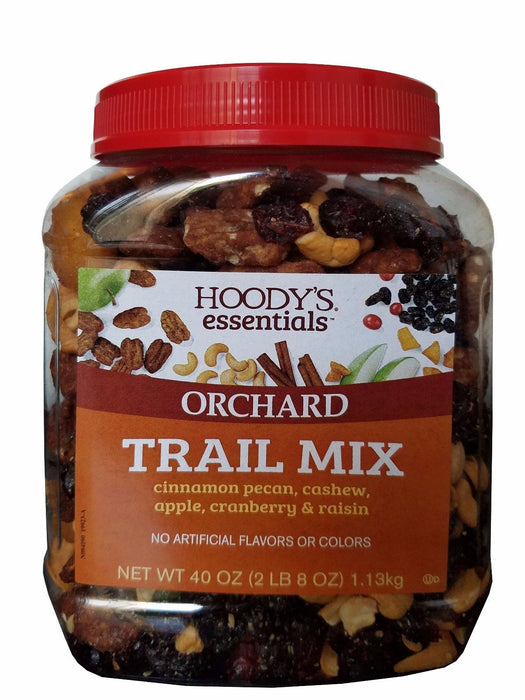 Hoody's Essentials Orchard Trail Mix Pecan Cashew Apple Cranberry Raisin 40 oz