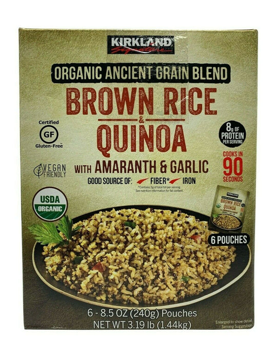 Kirkland Organic Ancient Grain Blend Brown Rice & Quinoa Net 3.19 LB - 6 Pack