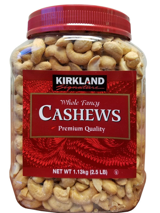 Kirkland Signature Whole Fancy Cashews Premium 2.5 lb