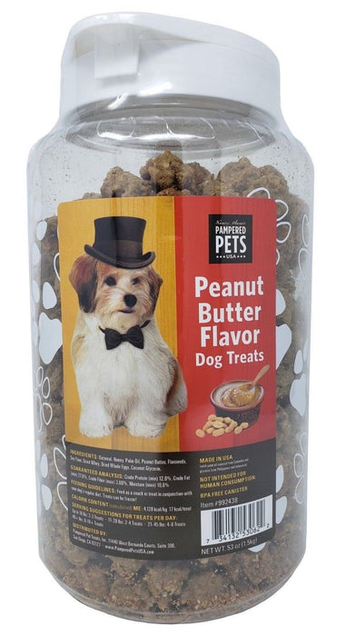 Pampered Pets USA Peanut Butter Flavor Dog Treats 53 OZ
