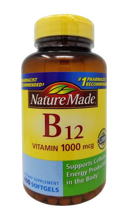 Nature Made B12 Vitamin 1000mcg Dietary Supplement 400 Softgels
