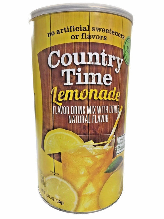 Country Time Lemonade Flavor Drink Mix with Other Natural Flavor 5 LB 2.5 OZ