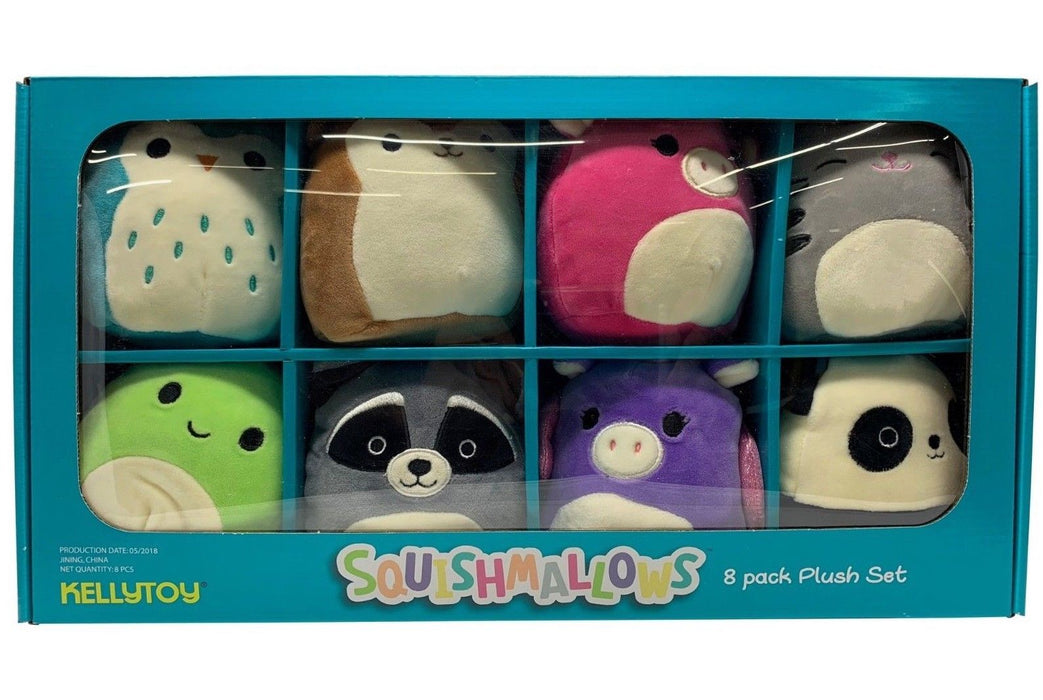 KellyToy Squishmallows Squeeze & Cuddle Plush Set - 8 Pack