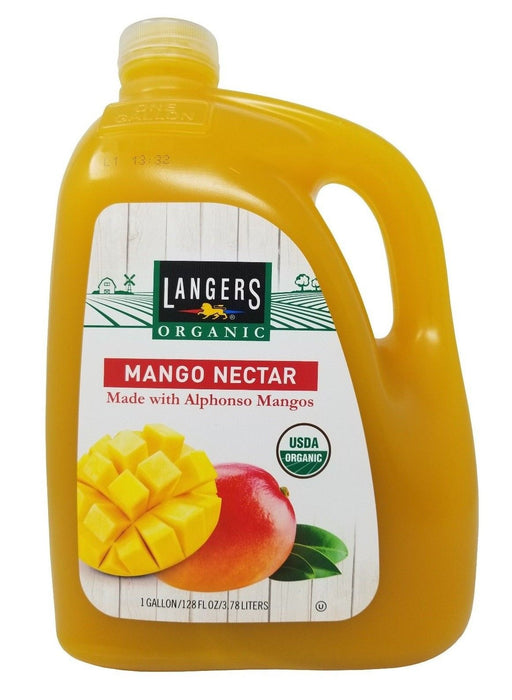 Langers Organic Mango Nectar Made with Alphonso Mangos 1 Gallon