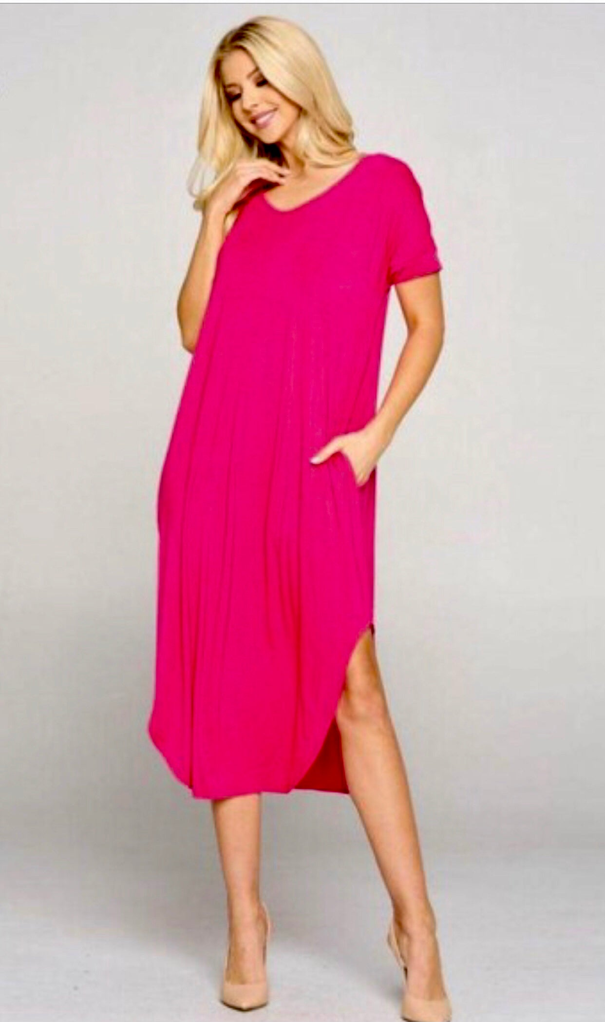 'Longing for You' Fuschia Dress