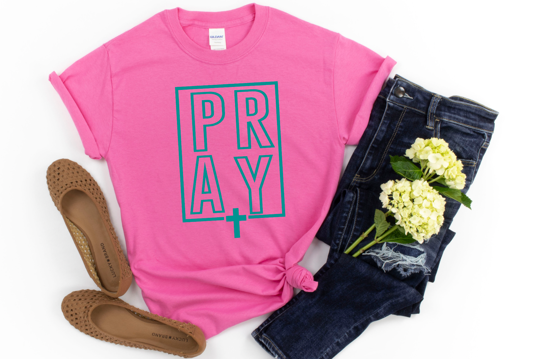 Pray in Pink Tee