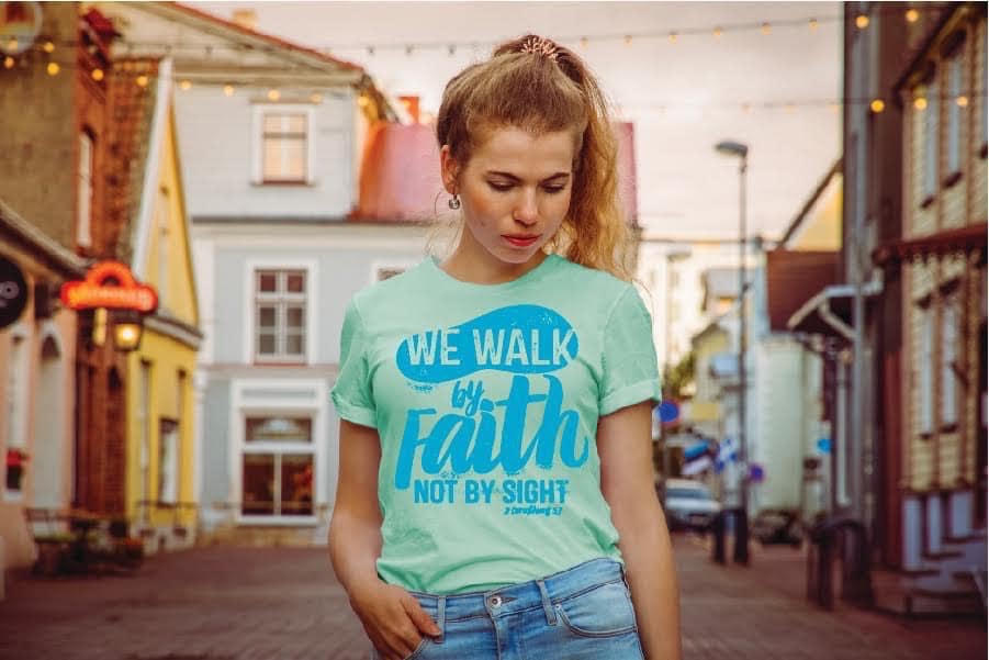 We Walk By Faith Tee