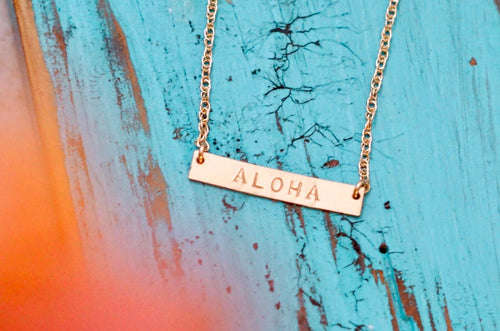 ALOHA Bar Necklace