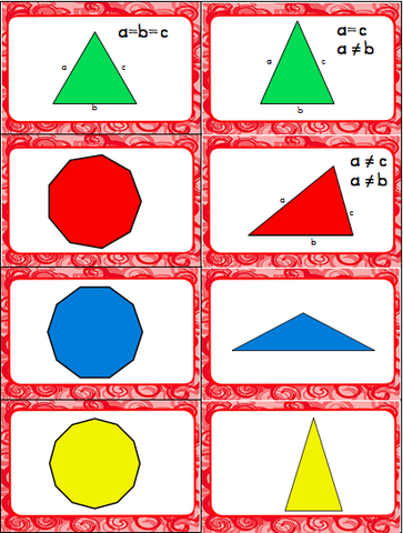2D Shape Slap-It! Card Game Math Center