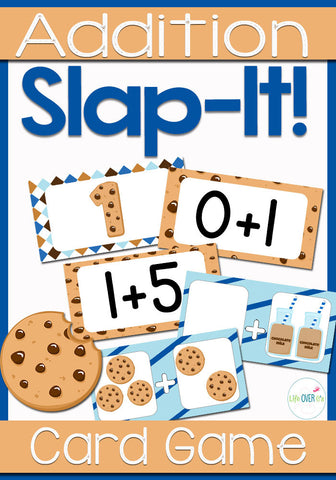 Addition Fact Family Card Game Cookie Theme