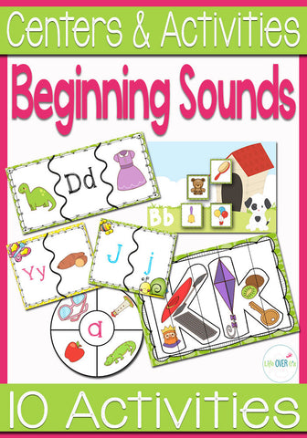Beginning Sounds Activity Pack for Phonemic Awareness
