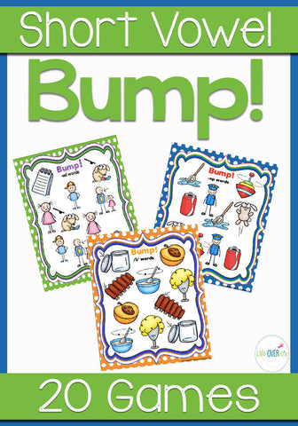 20 CVC Word Family Bump! Games