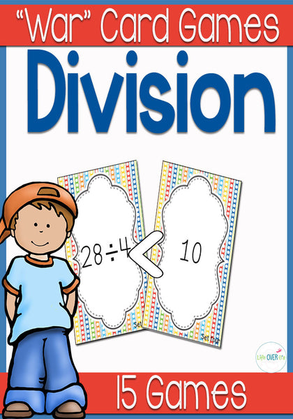 Division Facts War Card Game