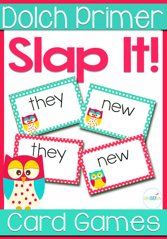 Dolch Sight Words Primer Level Slap-It! Card Game