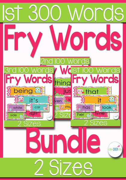 Fry Words for Word Wall BUNDLE